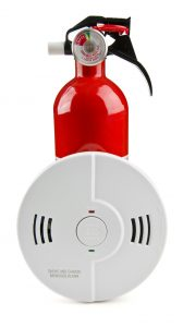 Fire Extinguisher and Alarm